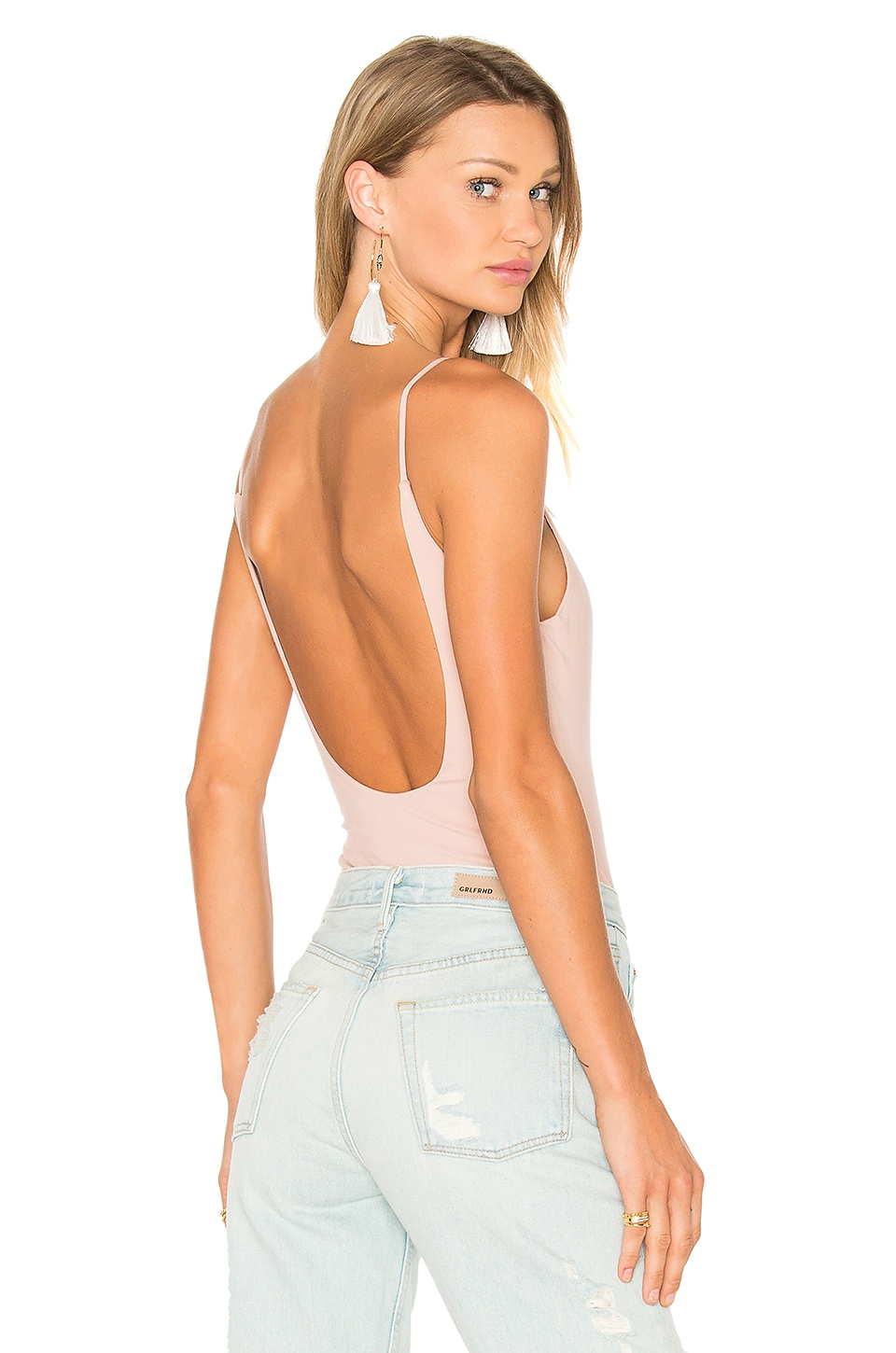 Privacy Please Bara Bodysuit in Nude