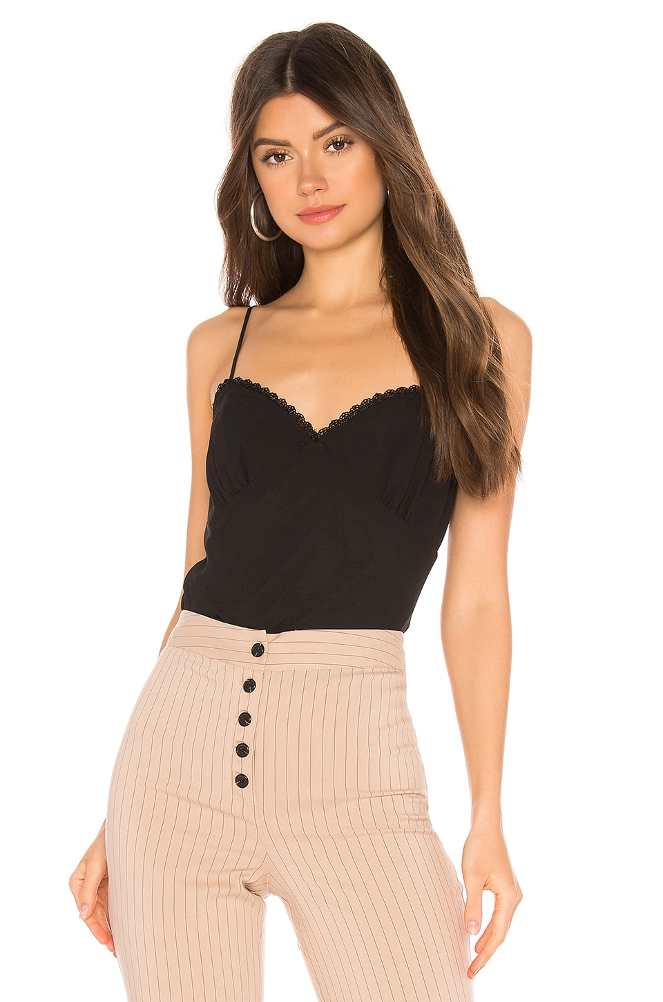Privacy Please Larkspur Top in Black