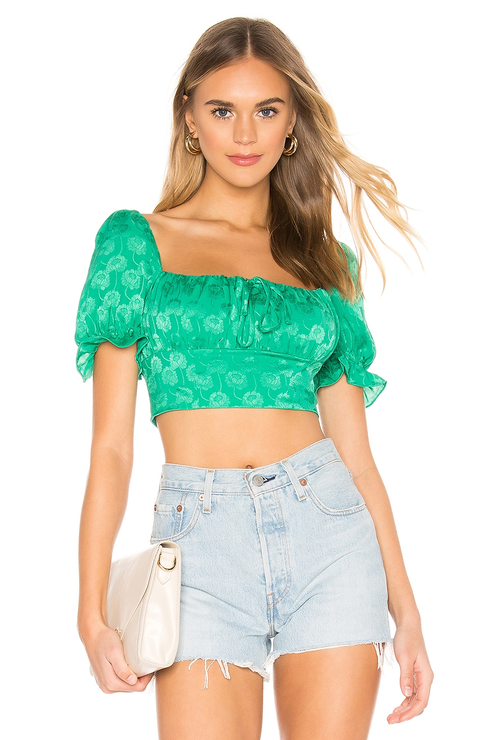 Privacy Please Rosita Top in Kelly Green
