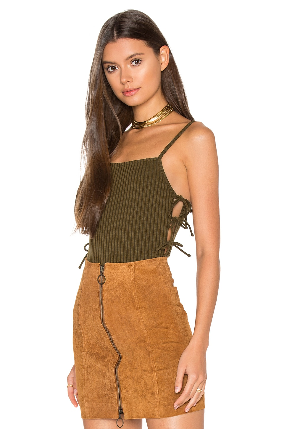 Privacy Please Arden Bodysuit in Green