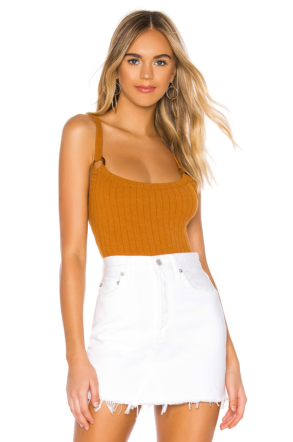 Privacy Please Coronado Bodysuit in Burnt Orange