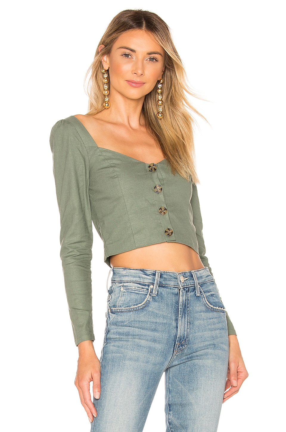 Privacy Please Althea Top in Sage Green
