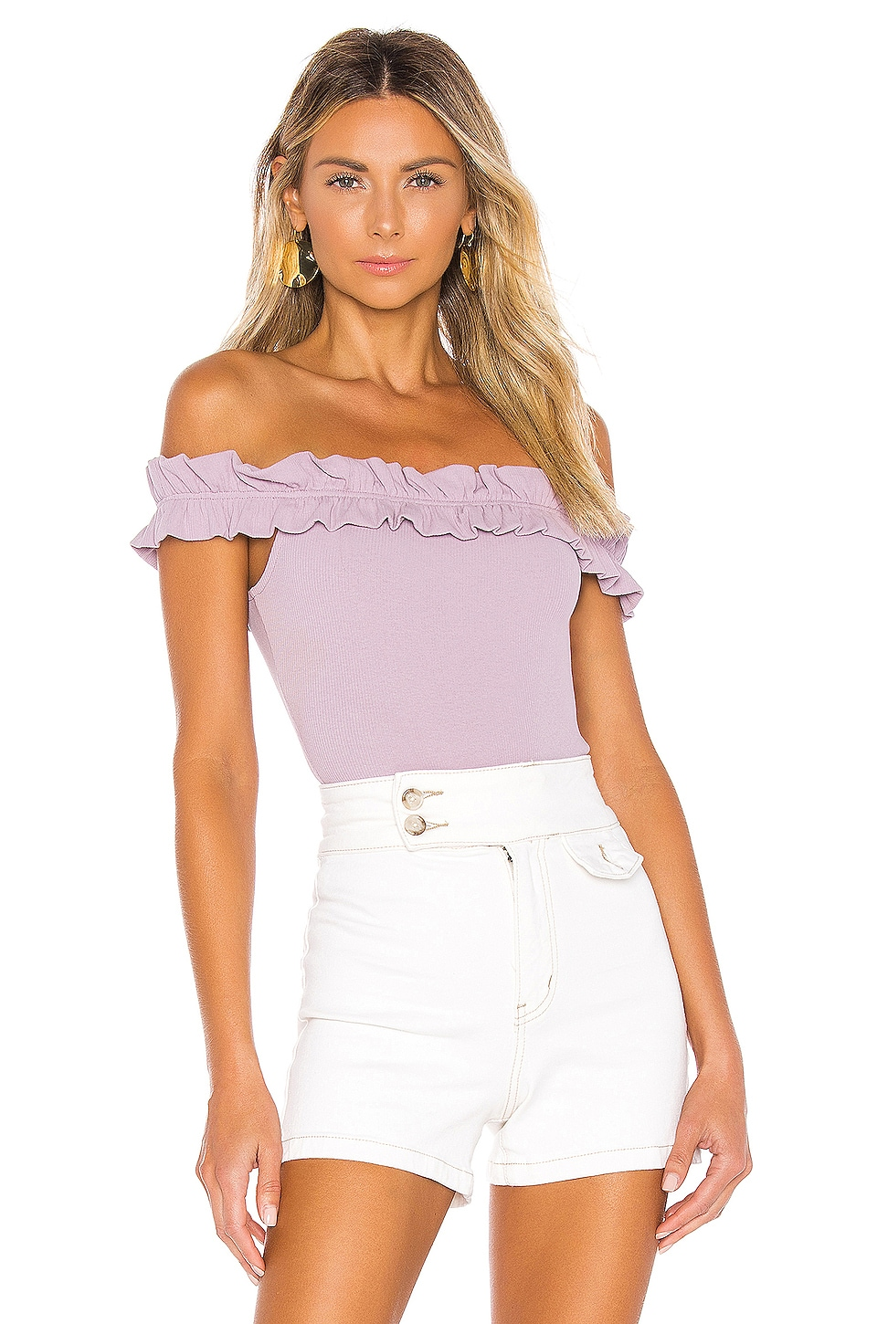 Privacy Please Solange Bodysuit in Lavender