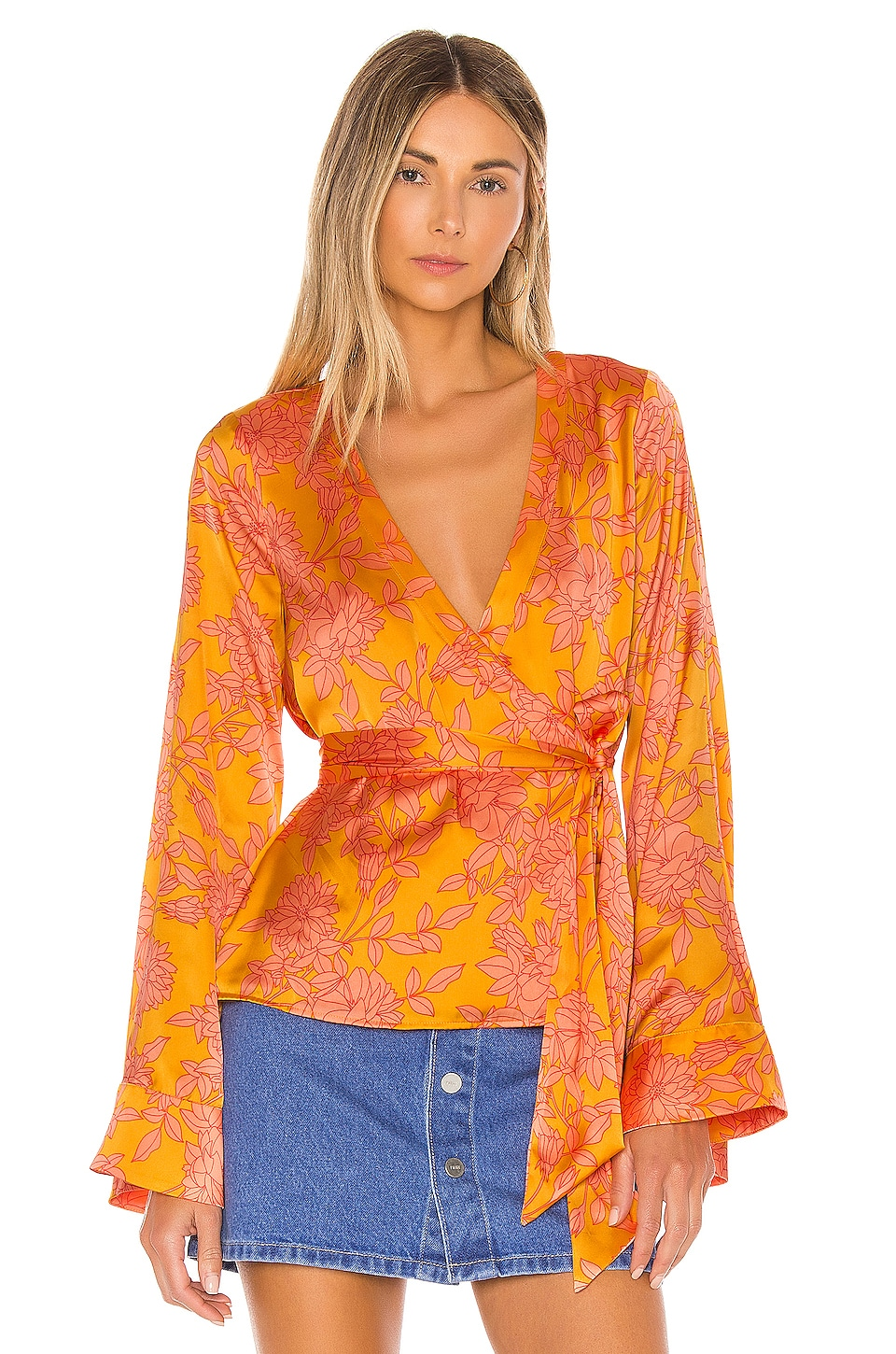 Privacy Please Linnea Top in Marigold Ana Floral