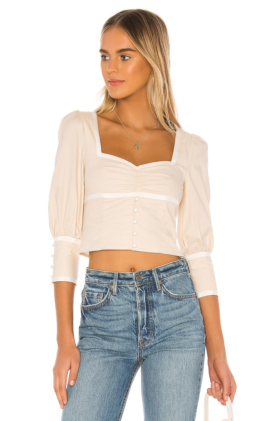 Privacy Please Corinne Top in Pearled Ivory