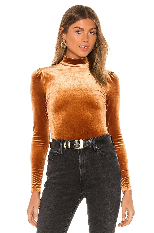 Privacy Please Brinkley Bodysuit in Copper