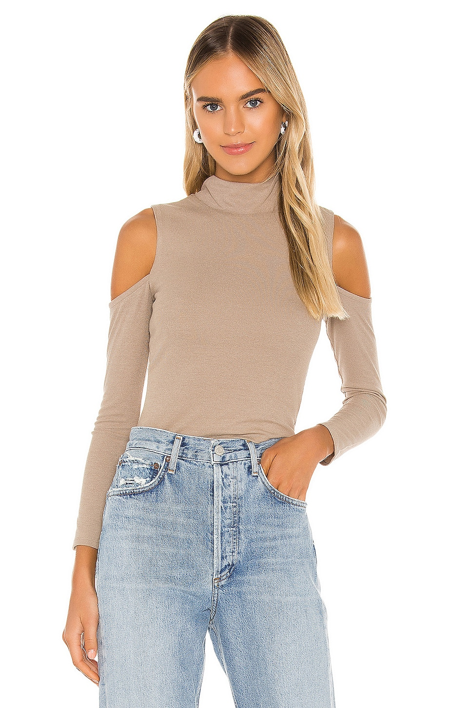 Privacy Please Rockwell Top in Taupe