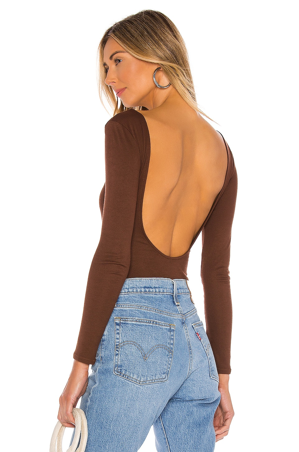 Privacy Please Nima Bodysuit in Chocolate Brown
