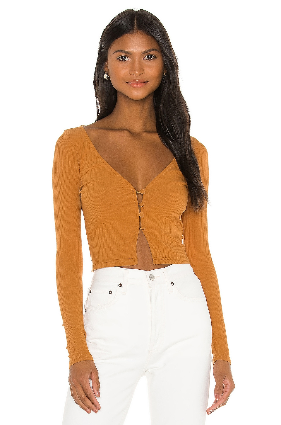 Privacy Please Parker Top in Golden Tan