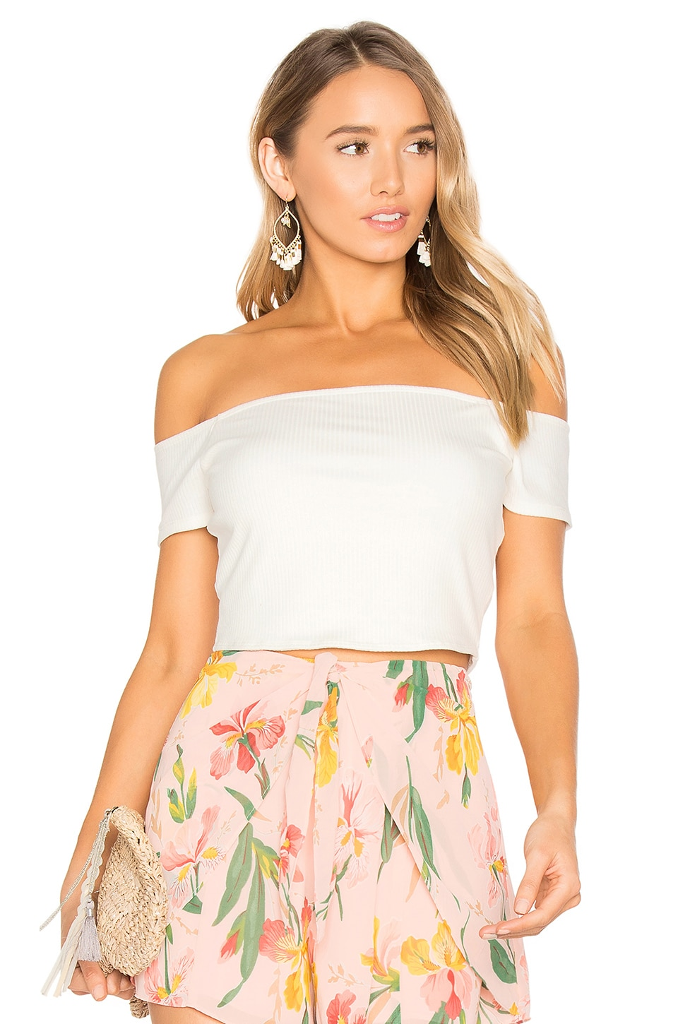 Privacy Please x REVOLVE Macy Crop Top in Ivory