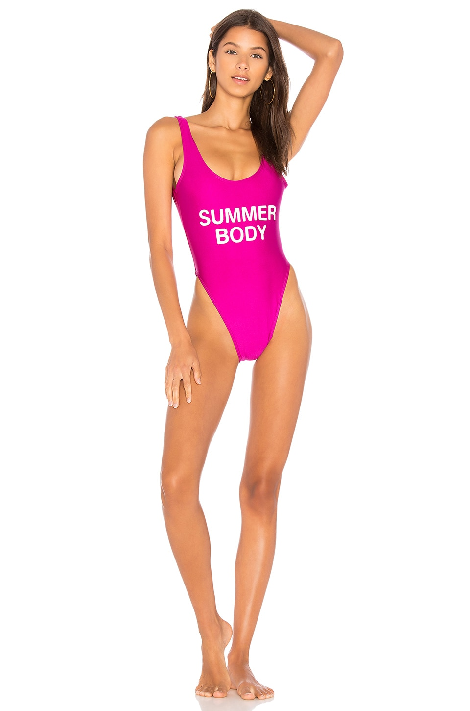 Private Party Summer Body One Piece Swimsuit in Fiesta Pink