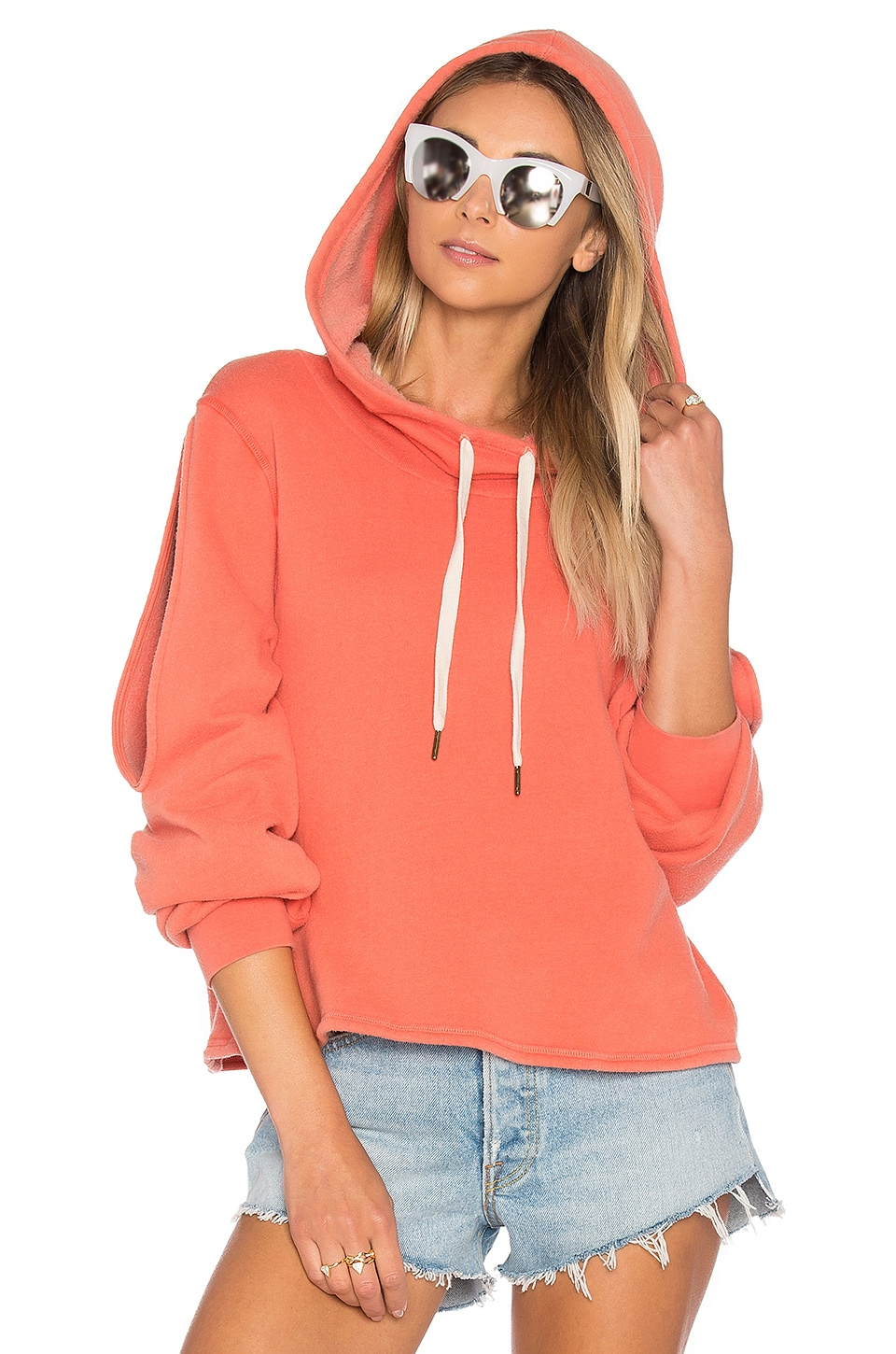 Pierce Cold Shoulder Sweatshirt by Project Social T