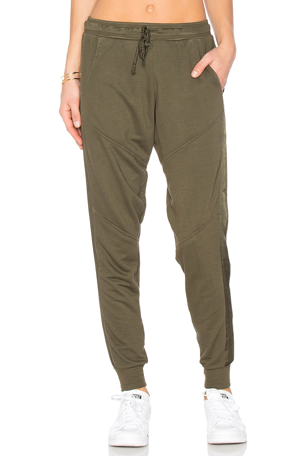 Moto Satin Trim Jogger by Project Social T