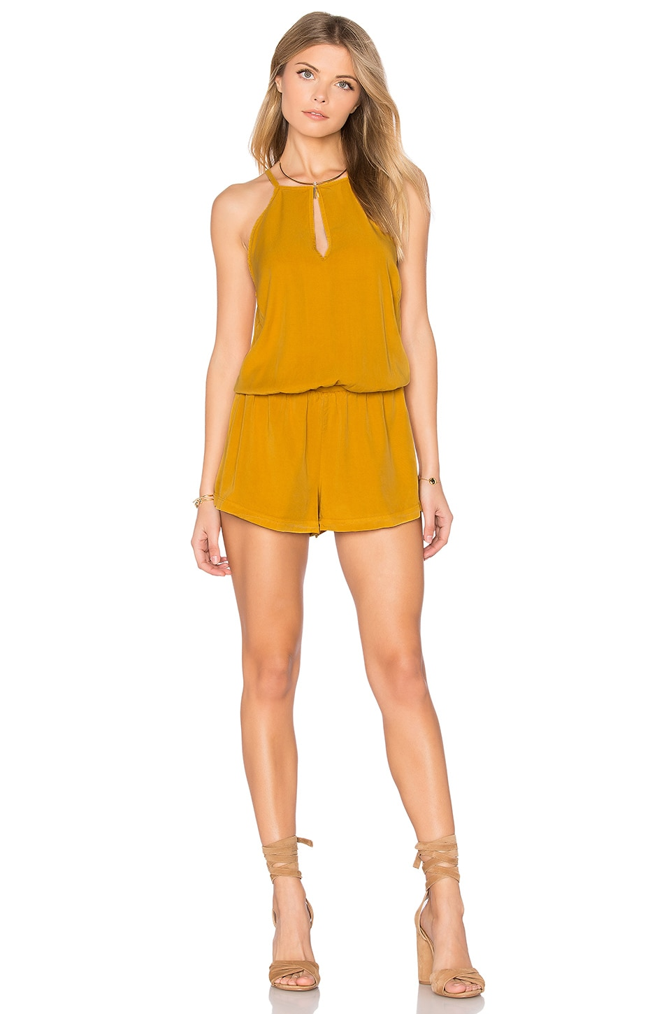 Project Social T Retro Romper in Golden Nugget