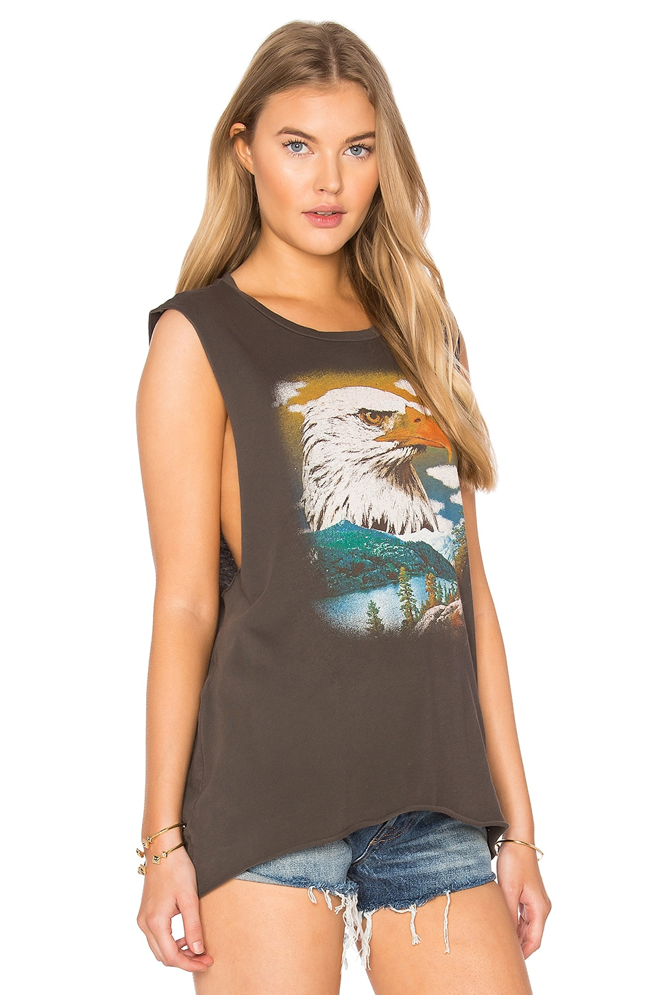 Project Social T Eagle Mountain Tank in Distressed Black