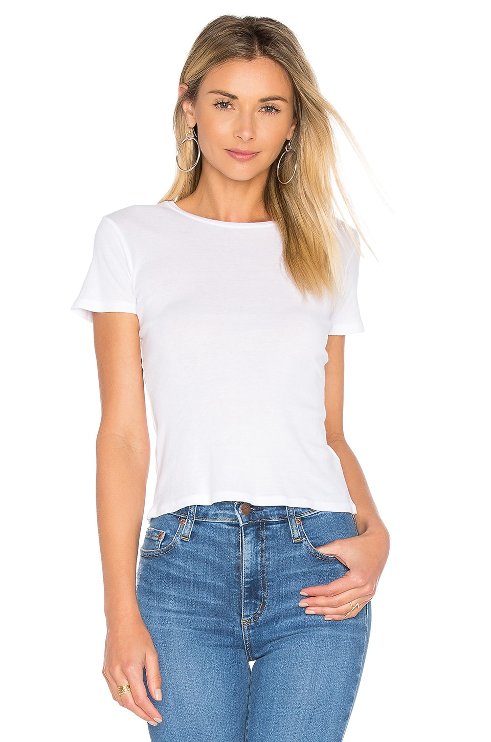 Project Social T Tiny Crew Neck Tee in White