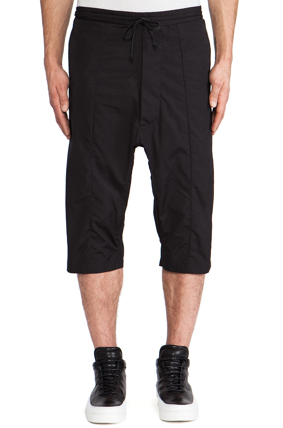 Public School Drawstring Shorts in Black