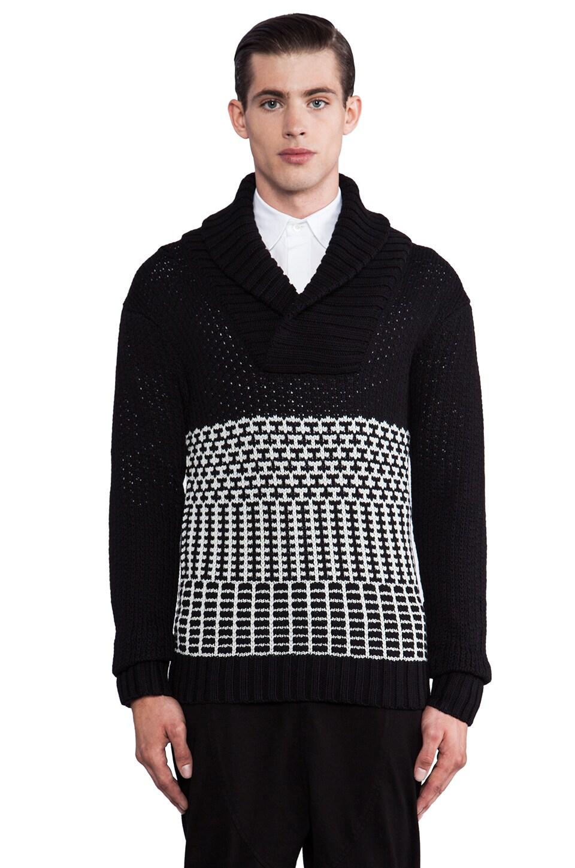 Public School Pullover in Black/ Grey