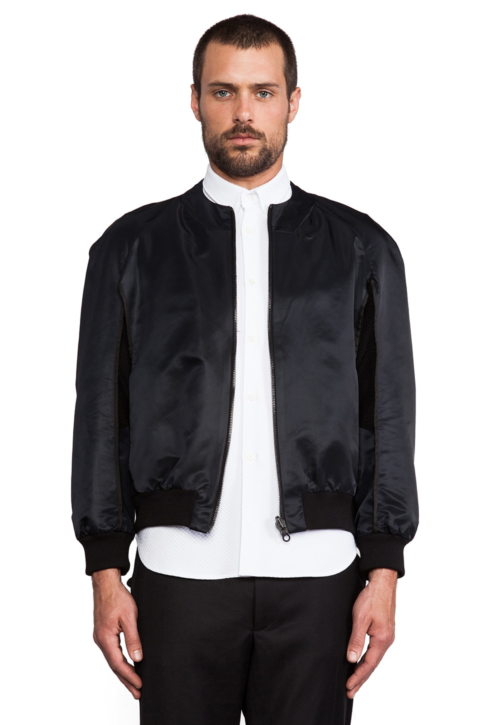 Public School Bomber Jacket in Black