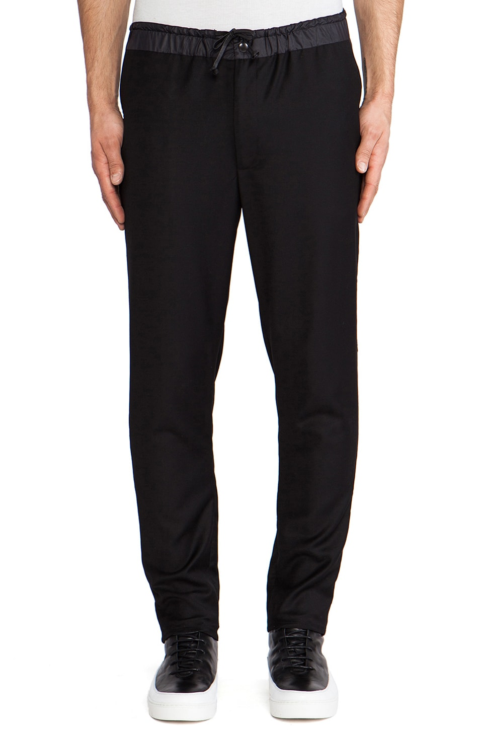 Public School Elasticated Waist Pants in Black