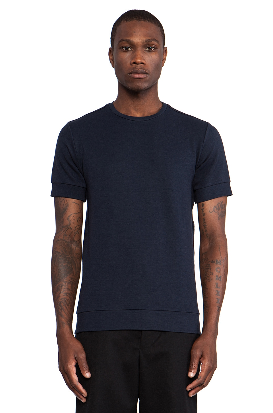 Public School Tee in Navy