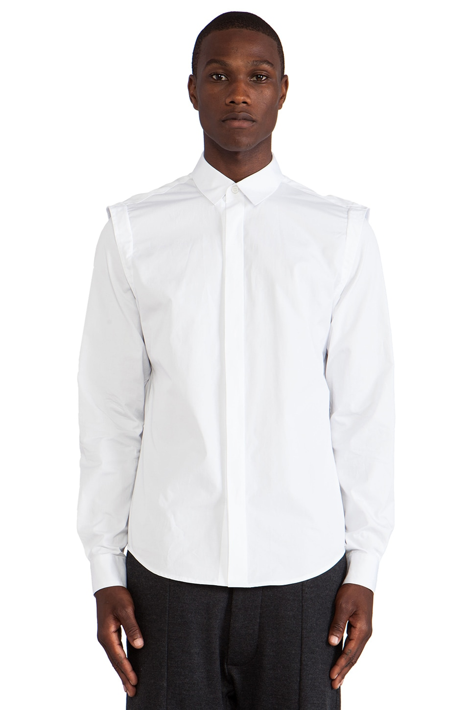 Public School Poplin Shirt in White