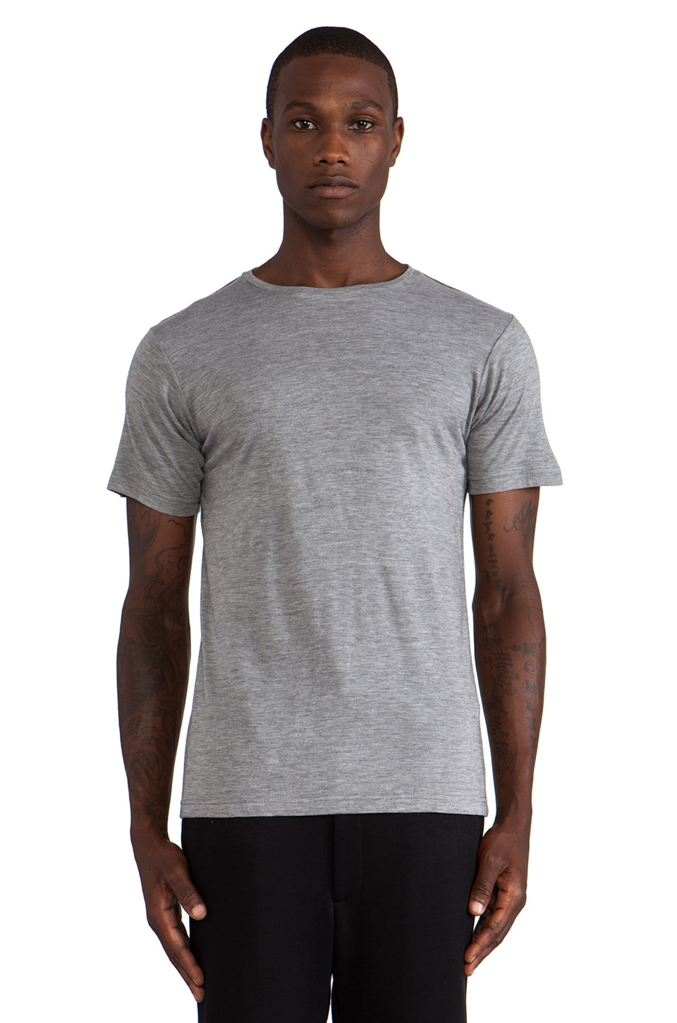 Public School Angora Blend Tee in Heather Grey