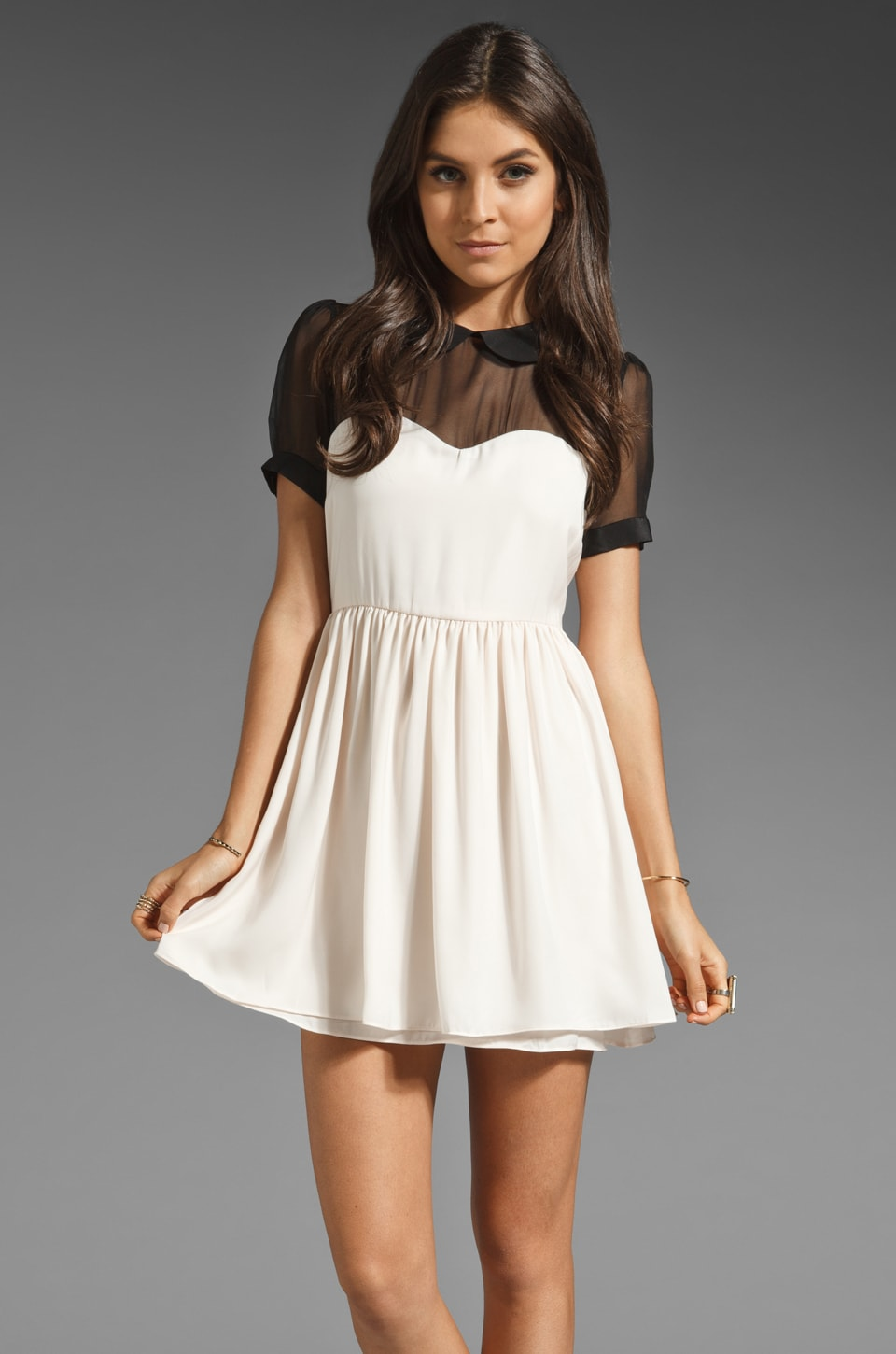 Pencey Standard x Jessica Hart Sweetheart Dress in Ivory