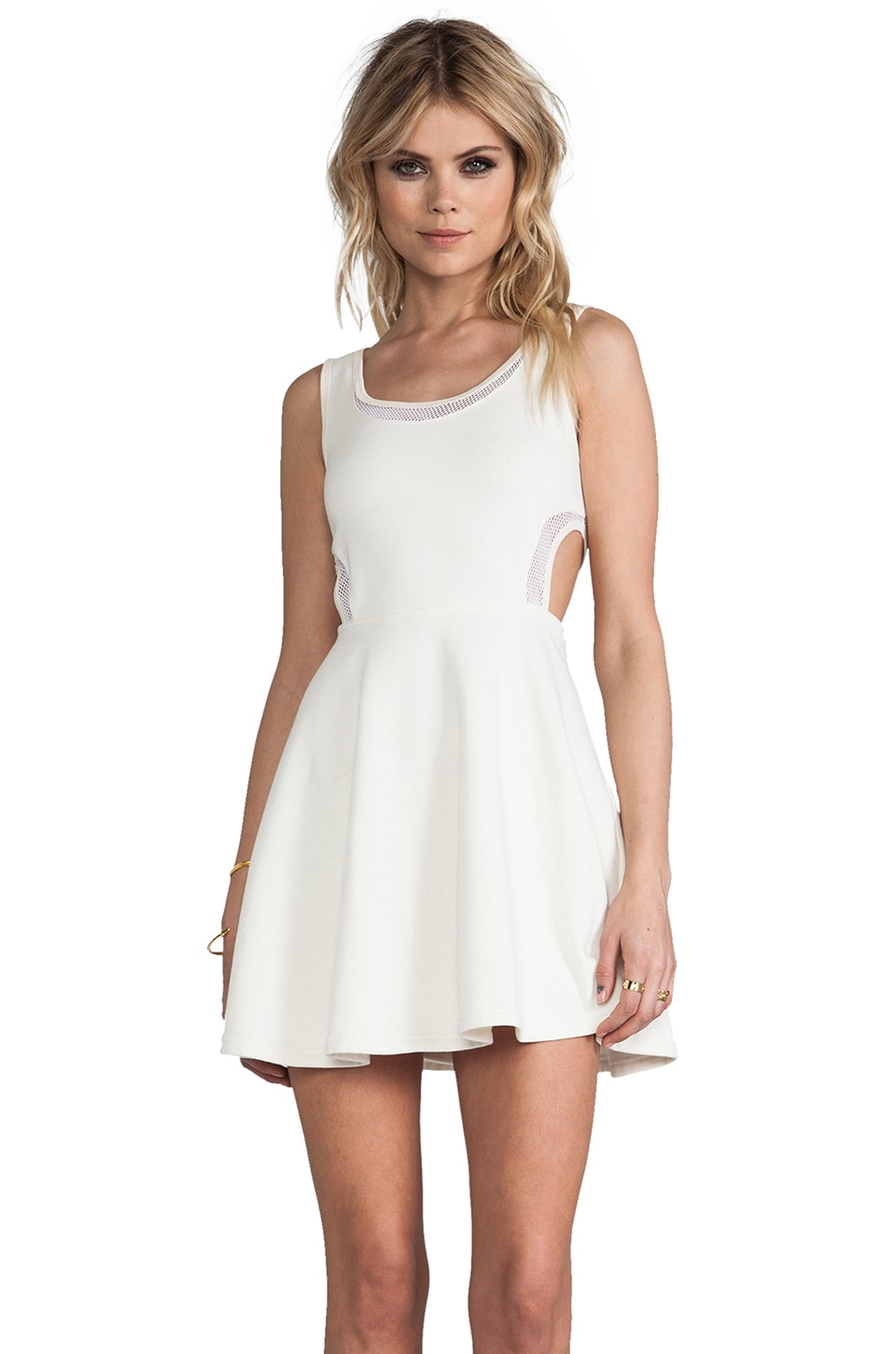 Pencey Standard French Terry Fencing Dress in White