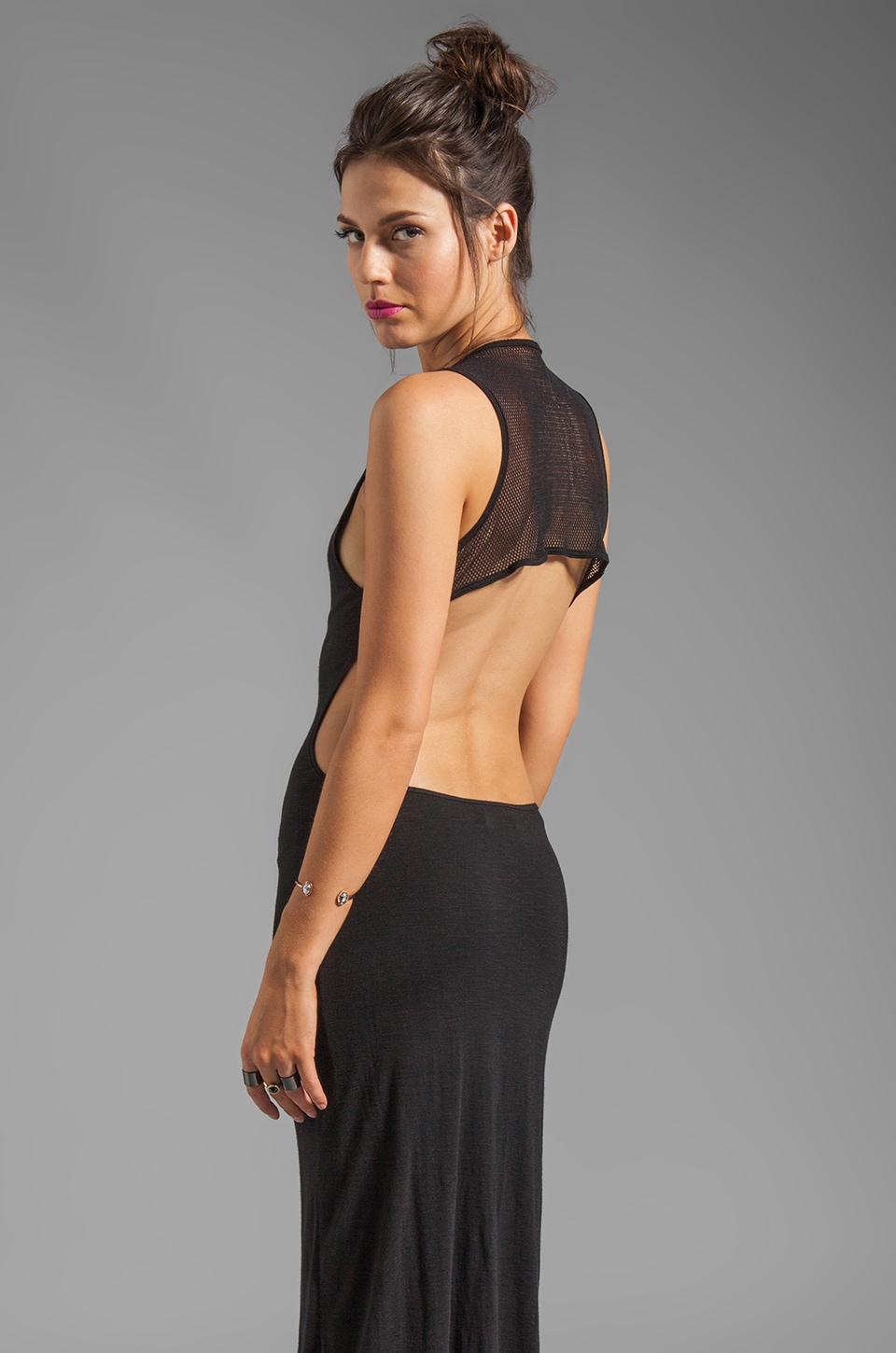 Pencey Standard Olympic Mesh Cut Out Dress in Black