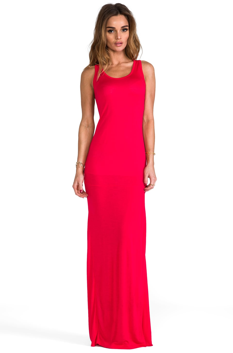 Pencey Standard Long Tank Dress in Red