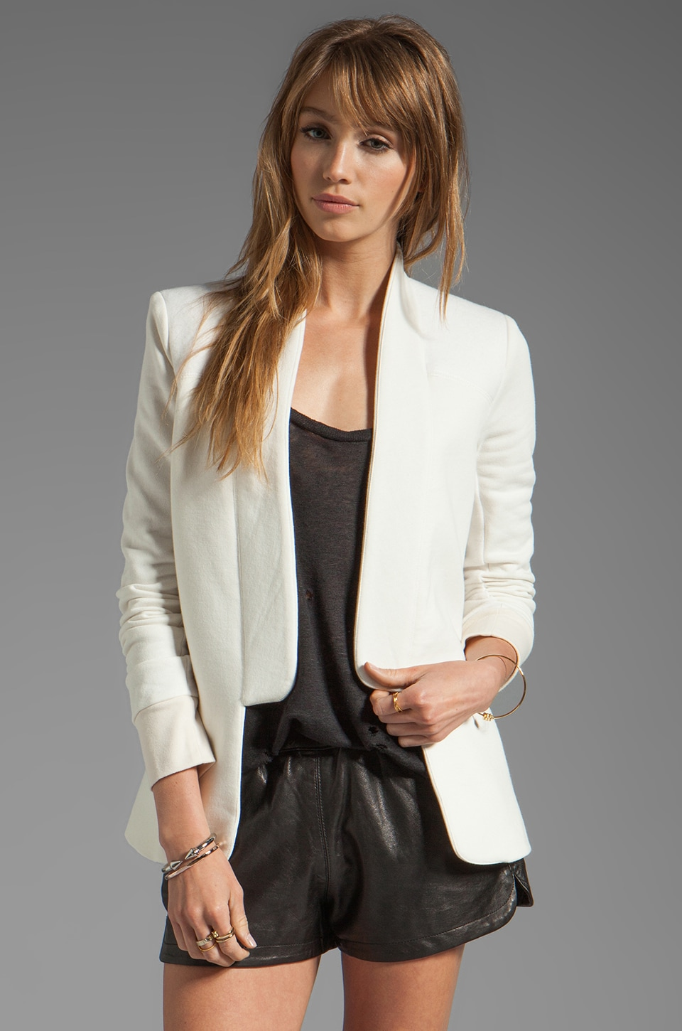 Pencey Standard French Terry Fencing Blazer in White