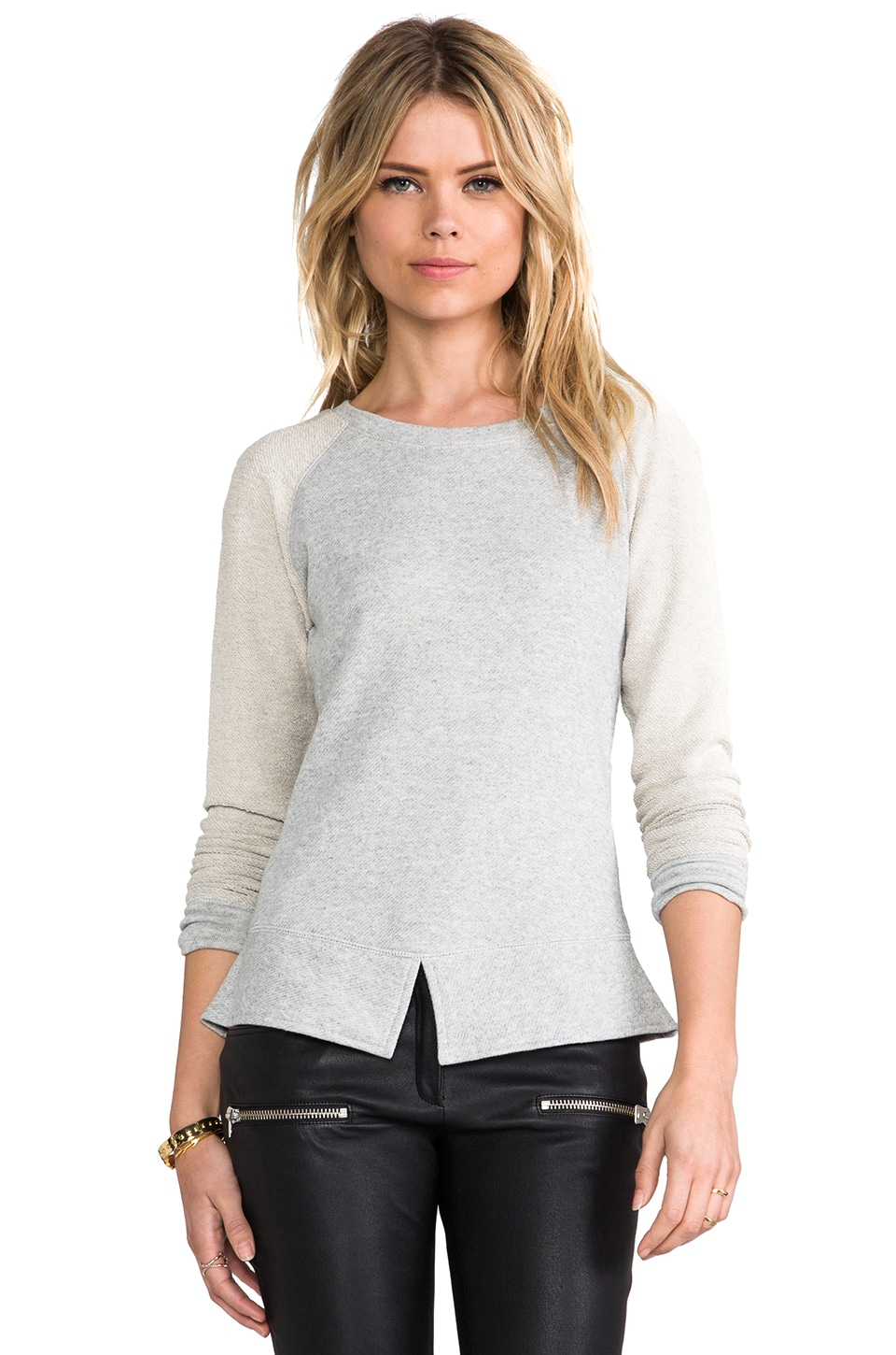 Pencey Standard Split Hem Sweatshirt in Heather Grey