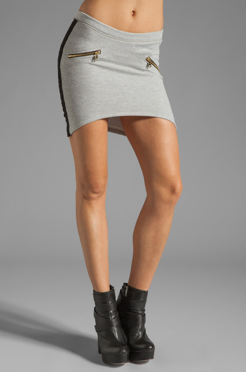 Pencey Standard Zipper Skirt in Grey