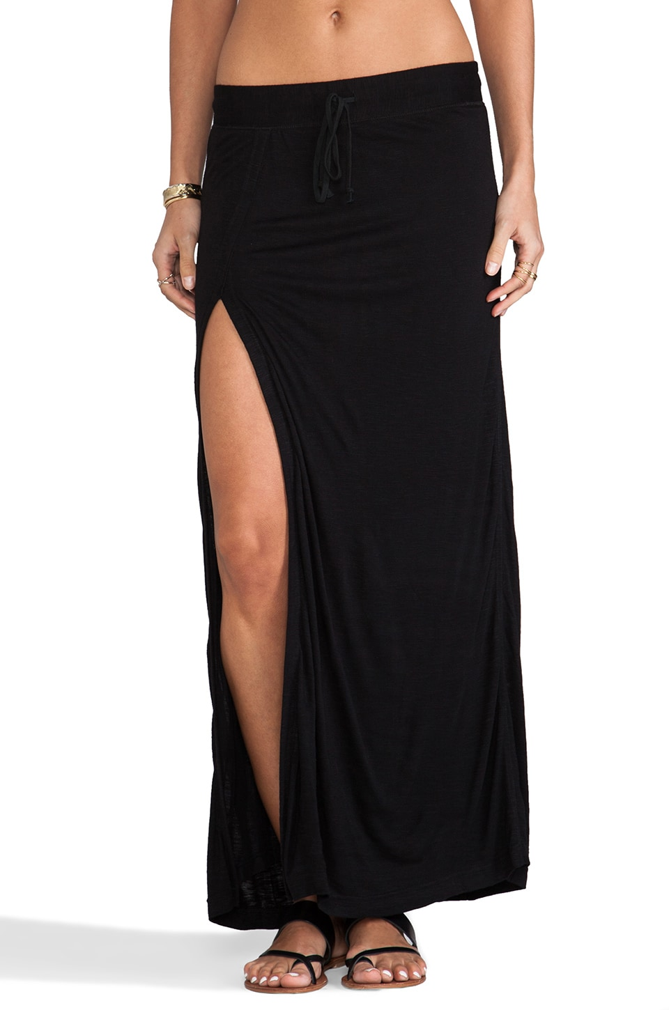 Pencey Standard Feature High Slit Skirt in Black