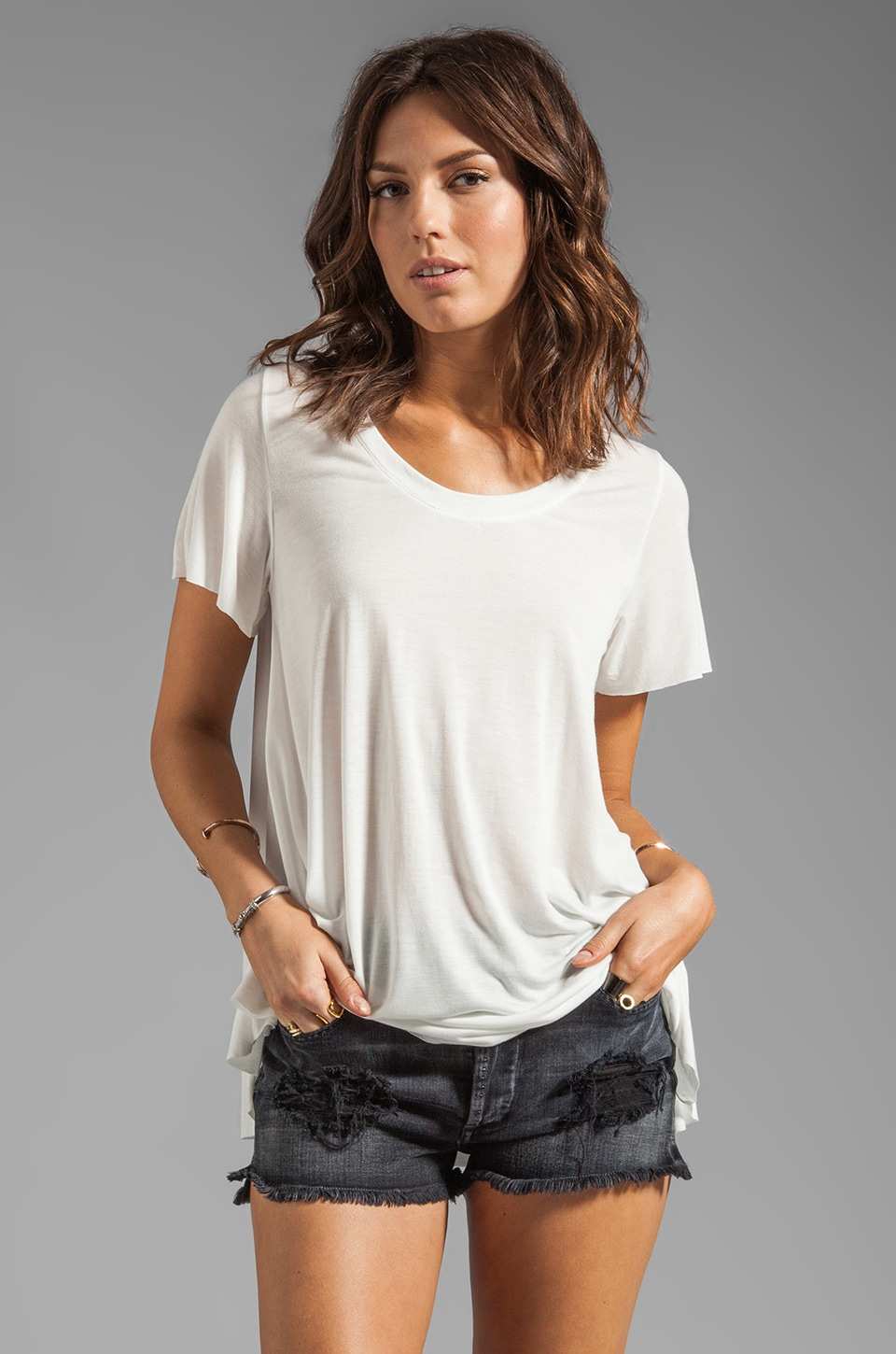Pencey Standard Peasant Tee in White