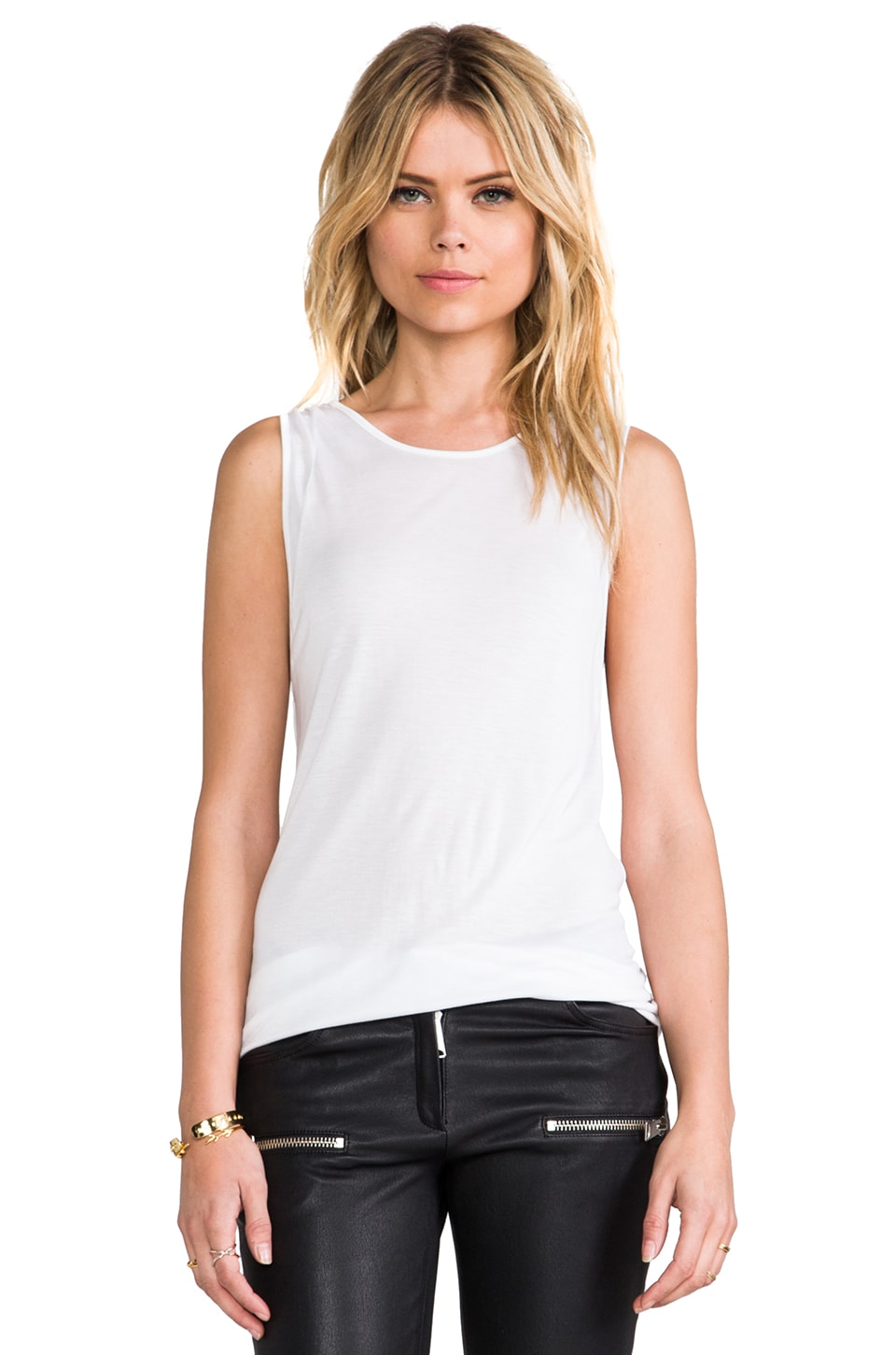 Pencey Standard Combo Racer Tank in White