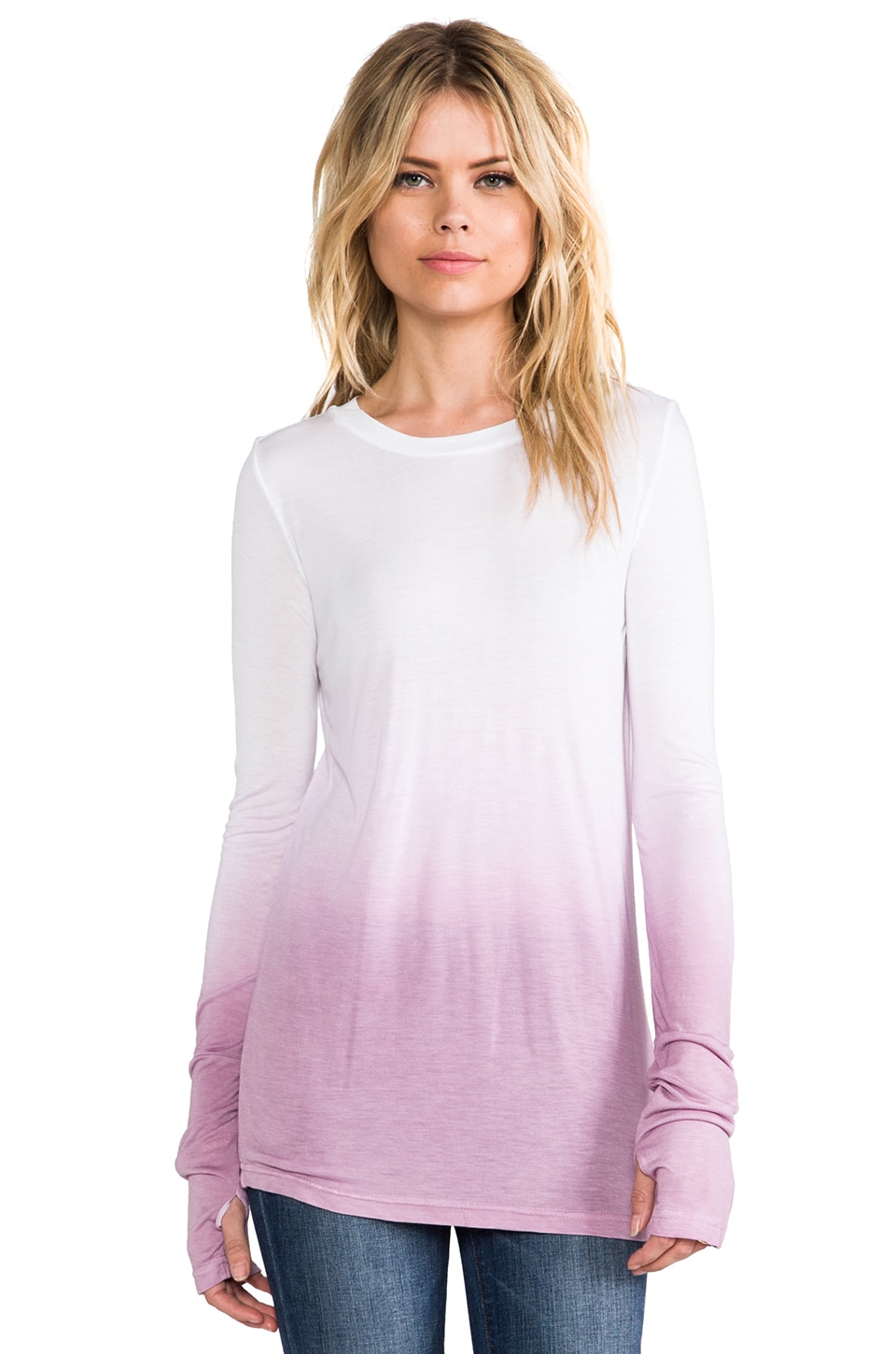 Pencey Standard Cuffed Long Sleeve in Purple