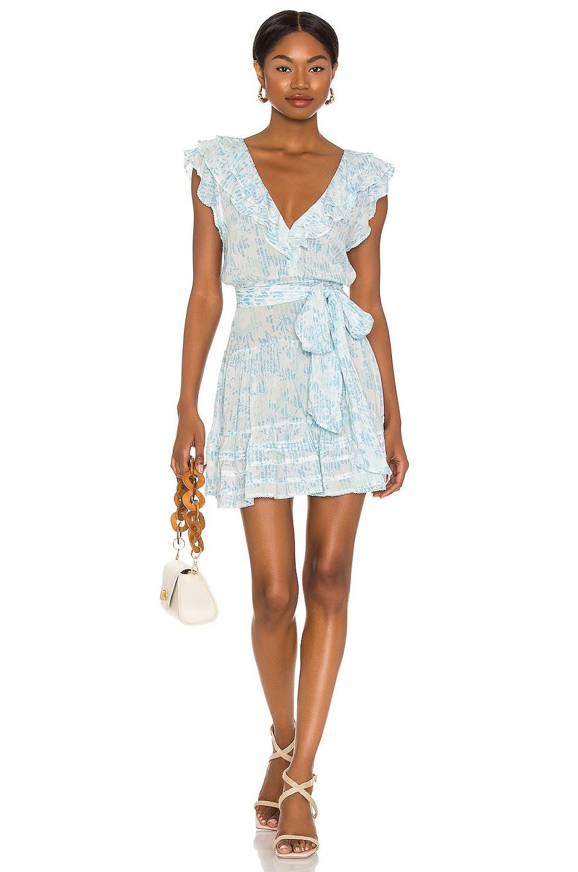 Poupette St Barth Della Mini Dress in Sky Blue Breeze