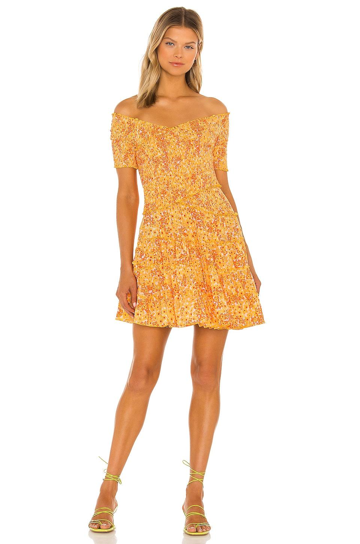 Poupette St Barth Soledad Mini Dress in Yellow Hortensia