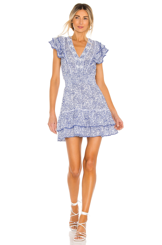 Poupette St Barth Camila Mini Dress in Blue Canary