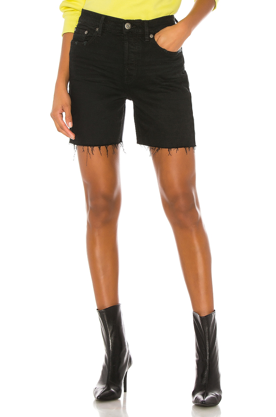 PISTOLA Devin High Rise Mom Cut Off Short in Embers