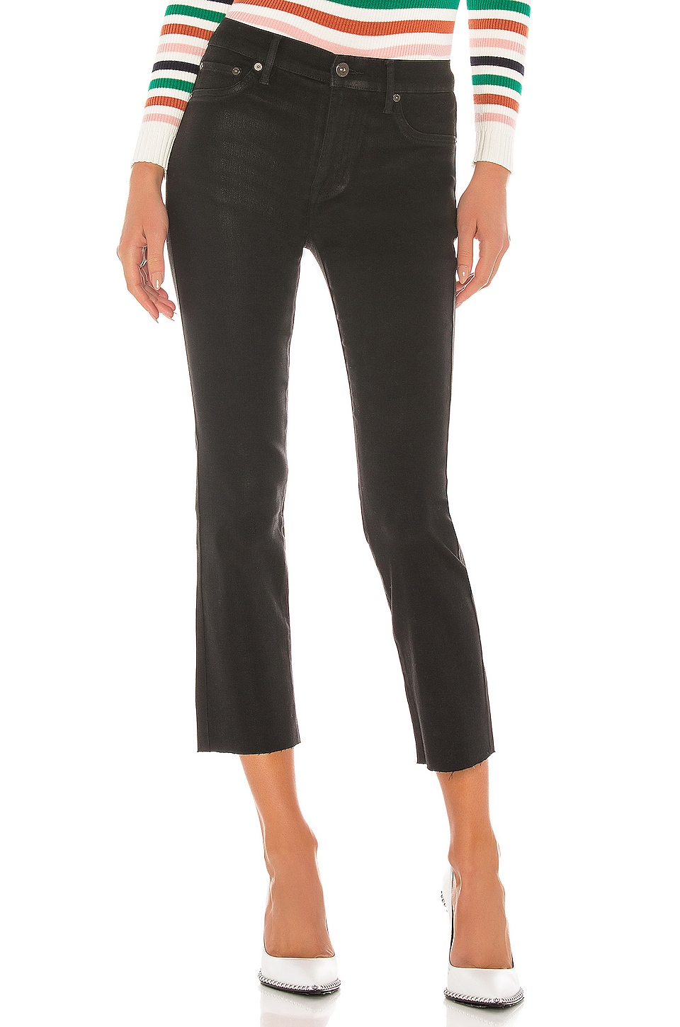 PISTOLA Lennon High Rise Cropped Bootcut in Slick