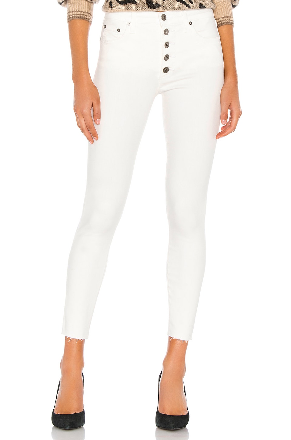 PISTOLA Aline High Rise Skinny in Winter White