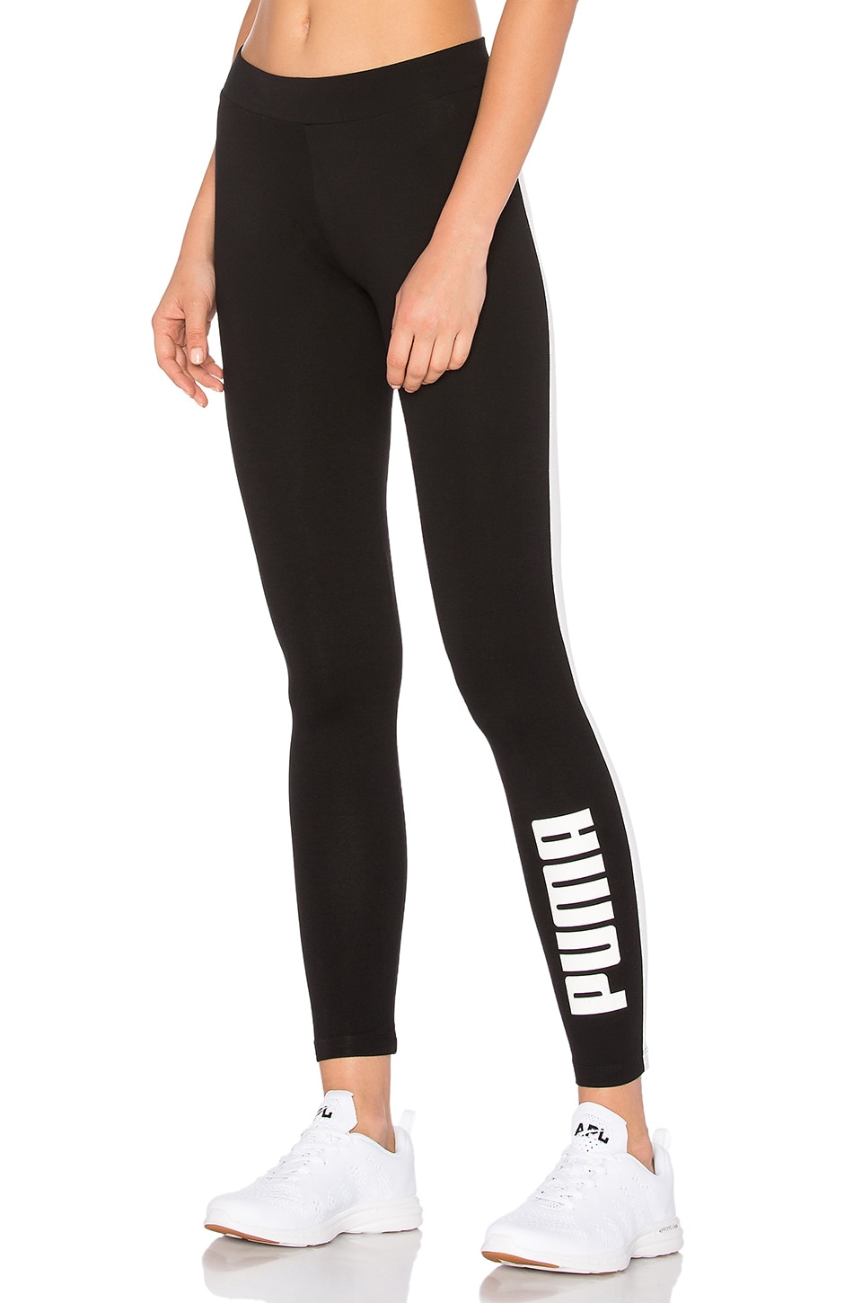 Puma Archive Logo T7 Legging in Cotton Black