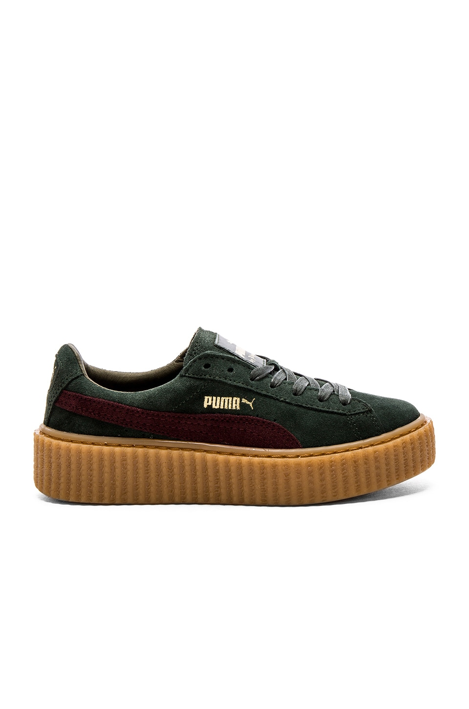 buy online c18b5 c46be Puma x Rihanna Creepers Sneaker in Green Bordeaux Gum | REVOLVE