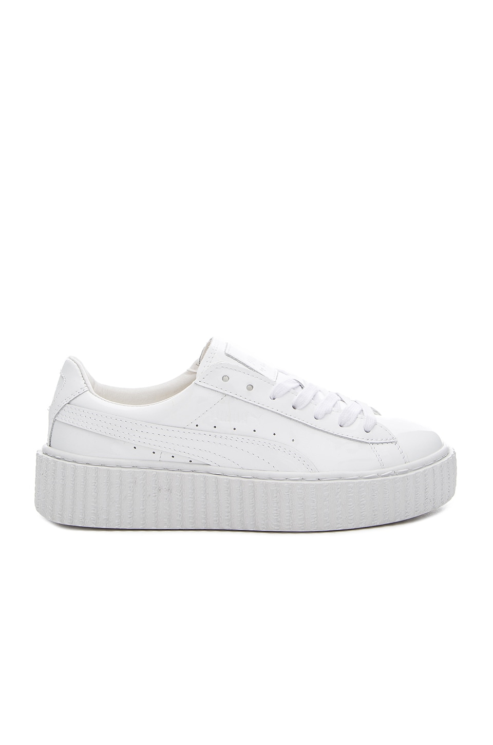 info for 2c2c6 cd537 Puma x Rihanna Basket Creepers Sneaker in Glo White | REVOLVE