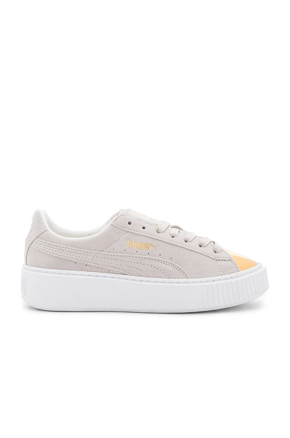 Puma Creeper Gold Toe Sneaker in Gold & Star White