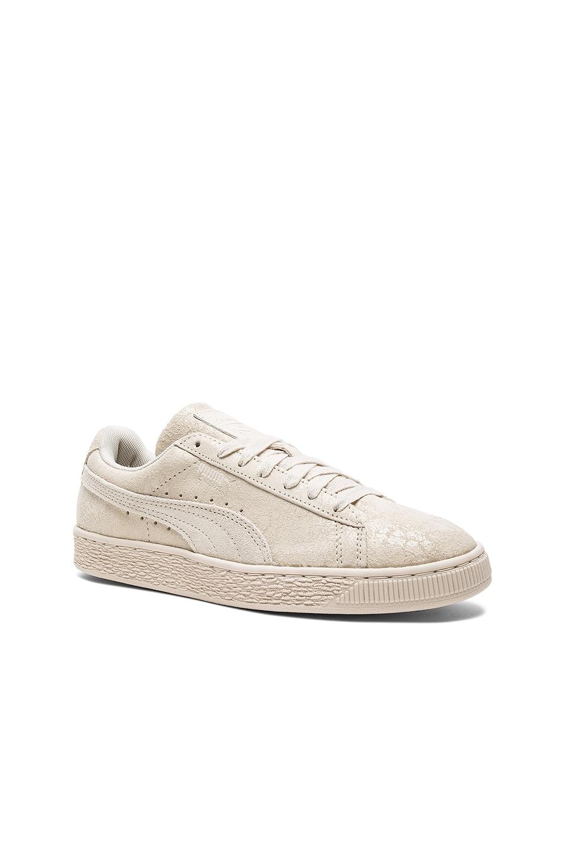 Puma Suede Remaster Sneaker in Birch