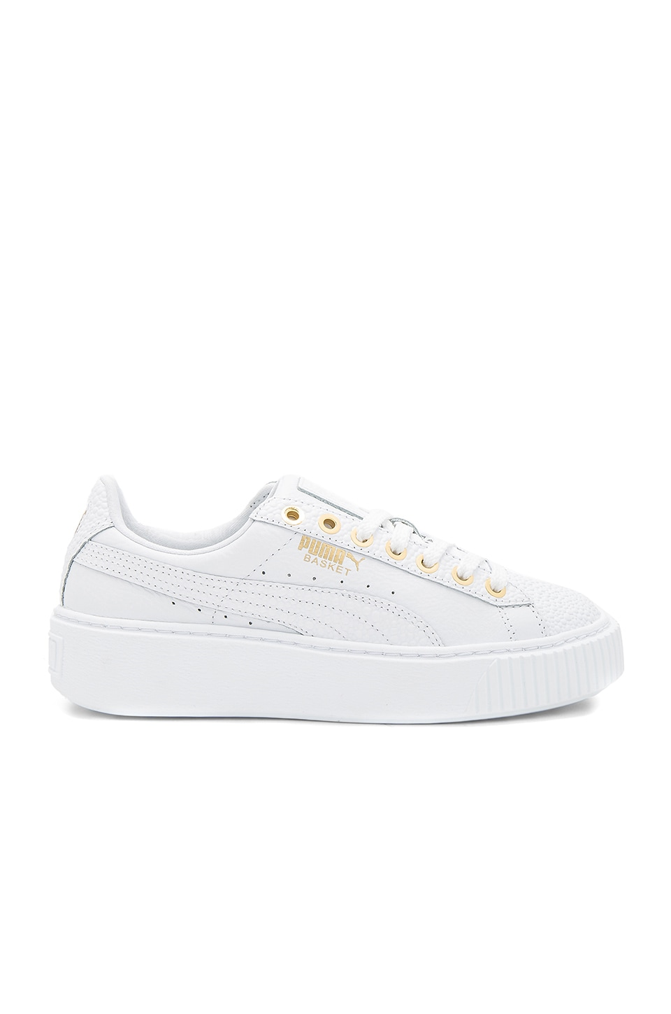 Puma Basket Pearlized Platform in in Puma White